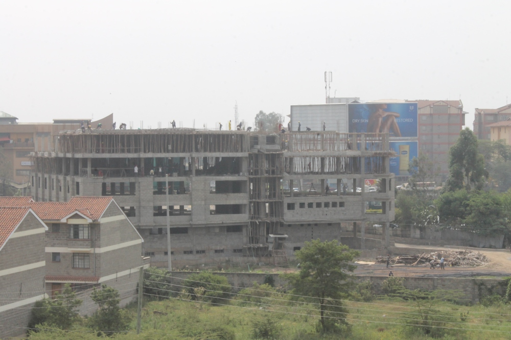 A Building comes up in Nairobi, Kenya